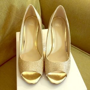 Gold Wedge Heels